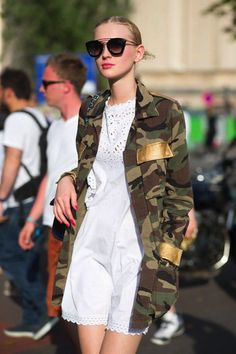 Veste Militaire, Veste Camouflage, Robe Broderie, Mode Femme, Broderie  Anglaise, Haute a0fb2c789294