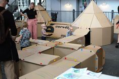Kids love mazes so HUBU made a huge one at Finders Keepers this weekend. Finders Keepers, Toddler Bed, Building, Creative, Kids, Children, Boys, Buildings, Children's Comics