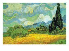 Cypresses Prints by Vincent van Gogh at AllPosters.com