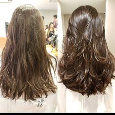 Brunette Balayage for Thick Hair - 50 Cute Long Layered Haircuts with Bangs 2019 - The Trending Hairstyle Haircuts For Long Hair With Layers, Haircuts Straight Hair, Long Face Hairstyles, Long Layered Haircuts, Long Hair Cuts, Long Hair Styles, Long Hair Short Layers, Layerd Hair, Braut Make-up