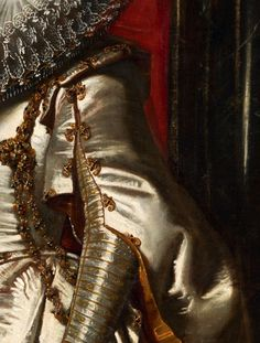Traveling through history of Art...Portrait of Maria Serra Pallavicino, detail, by Peter Paul Rubens, 1606.