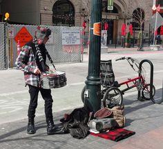 Drum busker, Downtown Boise.
