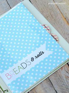 DIY Recipe Binder   Free Printables   simplykierste.com