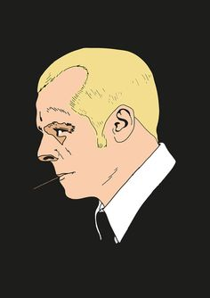 Simon Pegg from Hot Fuzz art print by tomcert on Etsy