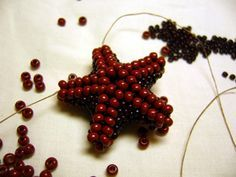 Another starfish tutorial.  Needs translation but many good pictures. #Seed #Bead #Tutorials