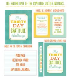 Thirty daus of Gratitude quotes and journaling for a good cause. I am definitely doing this in November with my fam!