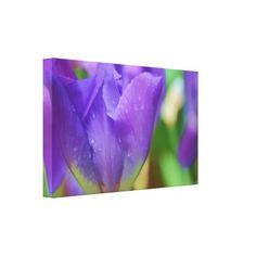 Elegant Purple Watercolor Tulip Photograph Canvas Print - #customizable create your own personalize diy