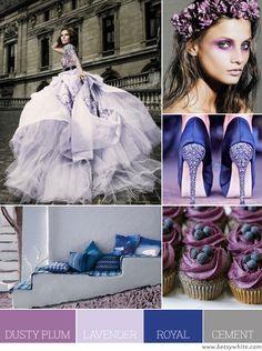 Dusty Plum,Lavender,Royal & Cement. craft room colors?