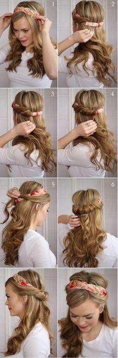 Voici un tuto à réaliser à l'aide d'un headband. Partagez-nous vos photos si jamais vous le réalisez ! Nos headbands se trouvent ici: http://www.remyhair.fr/379-serre-tete-headbands !
