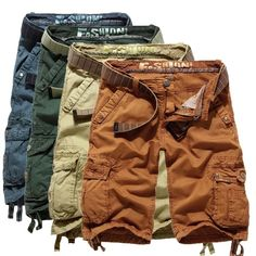Fashion men's military shorts casual beach short cargo pants overall Sport Casual, Men Casual, Military Shorts, Sport Shorts, Mens Cargo Shorts, Cargo Pants, Well Dressed Men, Flannel Shirt, Swagg