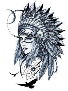 Seekit Safe and Customizable Search Seekit Safe and Customizable Search Native Indian Tattoos, Indian Girl Tattoos, Girl Thigh Tattoos, Native American Tattoos, Body Art Tattoos, Native American Drawing, Leg Sleeve Tattoo, Leg Tattoo Men, Tattoo Sleeve Designs