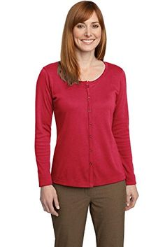 Port Authority Womens Port Authority Ladies Silk Touch Interlock S Red --  Click on the 6906ed0ba