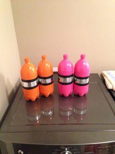 Halloween DIY Scuba diver tanks made from 2 liter soda bottles.