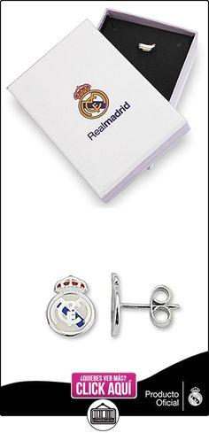 Pendientes escudo Real Madrid Plata de ley esmaltados [6858] - Modelo: 30-118  ✿ Joyas para mujer - Las mejores ofertas ✿ ▬► Ver oferta: https://comprar.io/goto/B00KDAV5WO