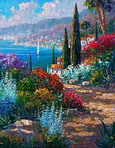 The Italian Riviera~ Oil On Canvas~ Palette Knife
