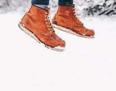 We love this shot of Liquor Store customer Mats Moc Toes in the snow Brave the cold in Red Wing boots this winter | Available in-store and online at liquorstoreclothing.com. . . : @mooonthemove. . . @redwingheritage #redwing #redwingheritage #myredwings #outdoors #madeinusa #moctoe #menswear #aw17 #modernoutdoorsman #birmingham #igersbirmingham #independentbirmingham #shopindie #shoplocal #vscocam #speakeasy