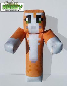 Orange and Grey Plush Minecraft Toy - Inspired Stampylongnose Toy for 2014 Halloween Minecraft Stampy, Minecraft Toys, Minecraft Party, Minecraft Skins, Minecraft Stuff, Minecraft Designs, Lego, Best Games, Swagg