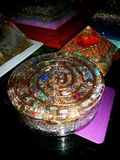 Orgonite Yellow Quartz, Sacred Geometry, Quartz Crystal, Copper, Gemstones, Holiday Decor, Beautiful, Crystals, Gems