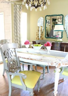 dining room makeover! This had been a long overdue project and the last piece of the puzzle was painting and ..