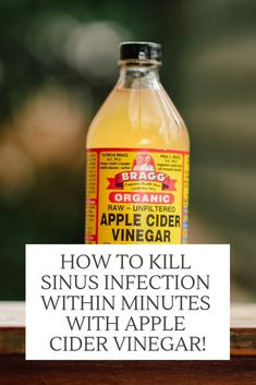 How To Kill Sinus Infection Within Minutes With Apple Cider Vinegar! - Healthy Living