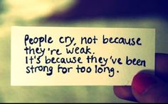 I hate when people cry :(