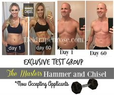 Lose up to 15 pounds in 30 days, build muscle, get ripped, and get amazing results!!  Join my new test group and be the first to get a transformation with the new release Hammer and Chisel! Click here for more details! Deidrapenrose.com #fitnessjourney
