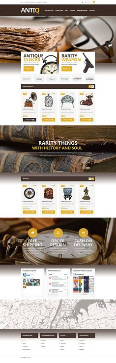AntiQ Antiques Store #OpenCart #webtemplate #themes #business #responsive #template