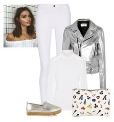 """""""2017/49"""" by dimceandovski ❤ liked on Polyvore featuring M.i.h Jeans, Yves Saint Laurent, Equipment, Steve Madden and Alice + Olivia"""