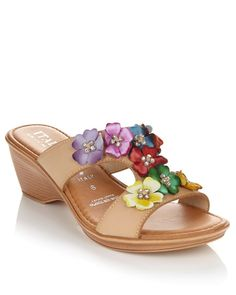 Spring is in full bloom! This flower slide sandal will be a bright & powerful addition to your shoe collection.