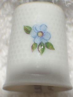 Marked Limoges France Porcelain Multi Flower Thimble   eBay