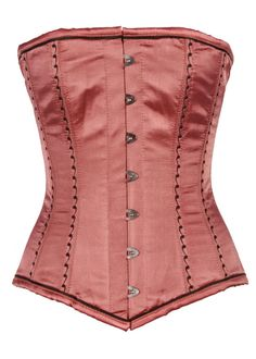 CT-837 Copper Satin Longline Steel Boned Overbust Corset