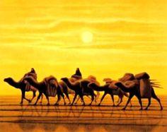 Ikuo Hirayama Japanese Artists, Kyoto, Camel, Illustration Art, Paintings, City, Animals, Animales, Paint