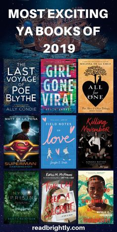 The Most Exciting Young Adult Books of 2019 These are the most exiting YA books for See the fu Best Books For Teens, Best Books To Read, Ya Books, Book Club Books, Good Books, Interesting Books For Teens, Book Suggestions, Book Recommendations, Reading Lists
