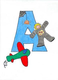 Alfabeto en español para niños.