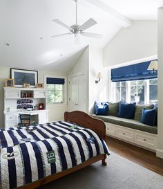 Love the clean lines of this boy's bedroom idea
