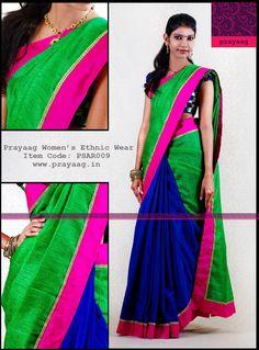 Green and Blue saree