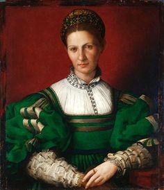 """Portrait of a Woman by Agnolo di Cosimo (""""Il Bronzino,"""" Italian, 1503-1572)"""