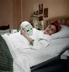 Frida Kahlo, Mexico City British Hospital, 1951.