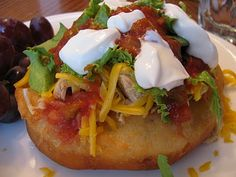 Navajo Tacos--love these!  This link has the recipe for the scones/fry bread.  It's a bit of work but tastes great for a fun treat.