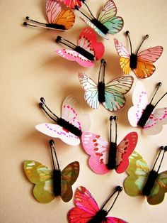 painted butterfly decor
