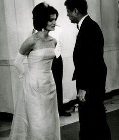 1962.  Jacqueline and John F. Kennedy. Washington DC