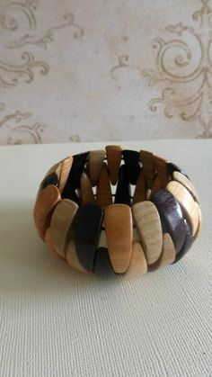 multicolor wood bracelet / wood jewelry strand / earthy jewelry / natural wood / under 10