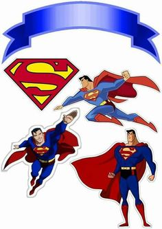 Superman Free Printable Cake Toppers Oh My Fiesta For Geeks with Bolo Do Superman, Superman Cake Topper, Superman Cakes, Superman Birthday Party, Superhero Party, Avengers Birthday, Bolo Super Man, Superhero Backdrop, Steel Dc Comics