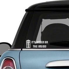 Doctor Who It's Bigger on the inside TARDIS Quote Car Decal Vinyl Wall Decor