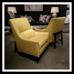 #CRLAINE Furniture [H/W 310 N Hmltn, 2nd fl. LL Hans Chair in Chartreuse. Mod Style and great accent featured in the new 'it' color. #HPMKT #Stylespotters