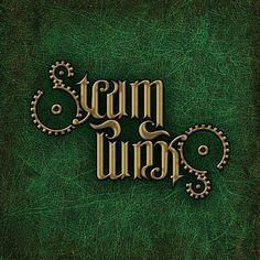 """Steampunk"", rotational ambigram - Version 2"