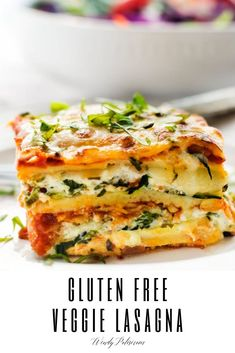 recipes healthy gluten free Easy Vegetable Lasagna This easy to make Gluten Free Lasagna with zucchini and spinach is perfect for your vegetarian diet! A healthy option for meatless Monday, this is one the whole family will love. Easy Vegetarian Lasagna, Vegetable Lasagna Recipes, Vegetarian Diets, Paleo Lasagna, Vegetable Lasagne, Vegetarian Italian, Lasagna Soup, Food Staples, Italian Recipes