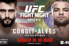 promo poster for #UFC Fight Night: Thiago Alves vs. Carlos Condit : if you love #MMA, you'll love the #MixedMartialArts inspired fashion at CageCult: http://cagecult.com/mma