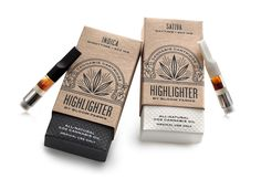Designed by Pavement, Highlighter is a brand that differentiates and legitimizes itself from other medical cannabis products with a sophisticated brand approach and elaborate packaging production. Design Logo, Box Design, Graphic Design, Layout Design, Branding Design, Design Ideas, Custom Packaging, Brand Packaging, Product Packaging