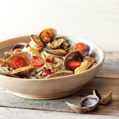 Linguine with Clams, Pancetta & Tomatoes | This linguine with clams, pancetta and tomatoes is a super-quick and immensely satisfying dinner. This recipe can be easily doubled or made gluten-free.